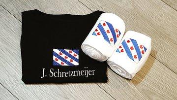 T-shirt gepersonaliseerd Friese vlag