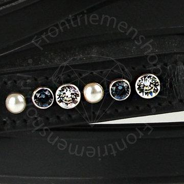 Halsband Brilliance denim blue / pearl