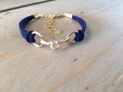 Armbandje met bit donkerblauw