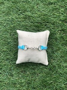 Armbandje met bit turquoise